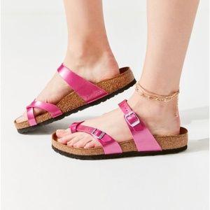 Birkenstock Mayari Electric Pink Sandal Slides 41